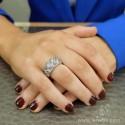Sortija oro y diamante blanco y diamante brown B01120263