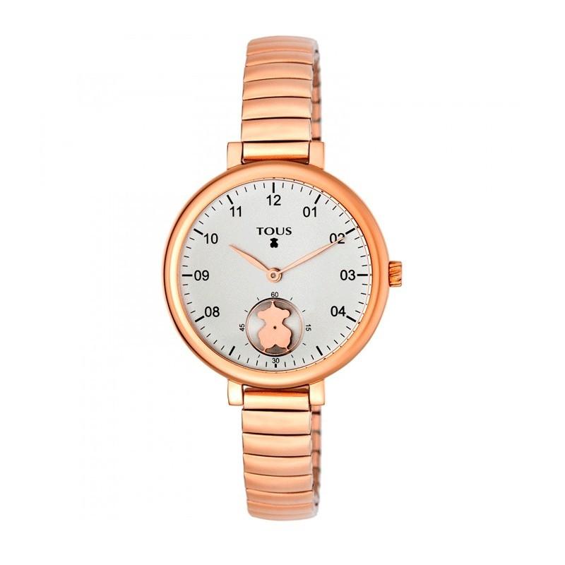 Reloj Tous Spin Flex acero rosa 35mm 700350200