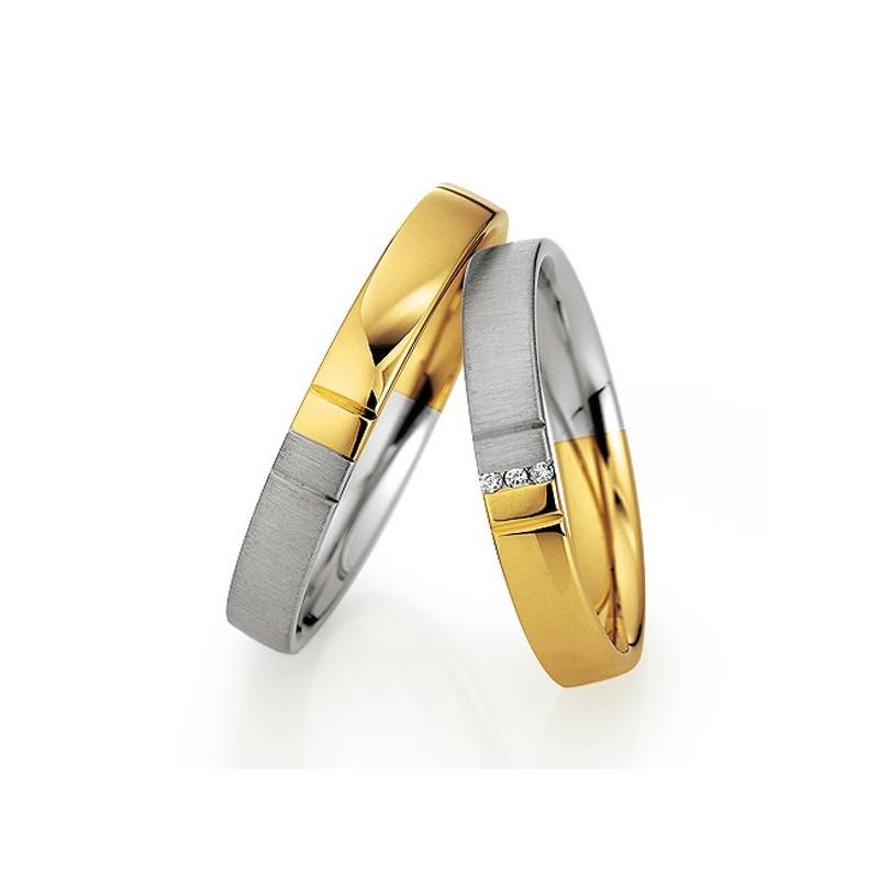 Alianzas de oro bicolor Saint Maurice Colección Light. 87068/69¡