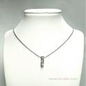 Colgante Oro Blanco y diamantes E01120022