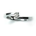 Solitario de oro blanco y diamante B11120030