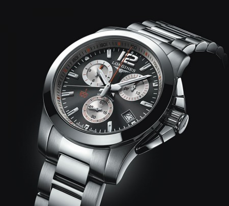 reloj Conquest 1/100th Roland Garros