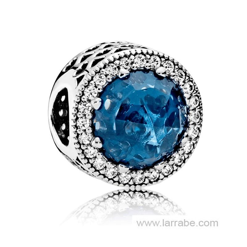 Comprar Abalorio Pandora Corazones Brillantes Azul Luz de Luna