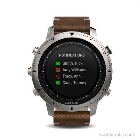 reloj garmin fenix chronos cuero 010-01957-00