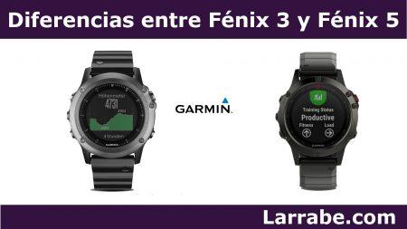 diferencias entre fenix 3 y fenix 5