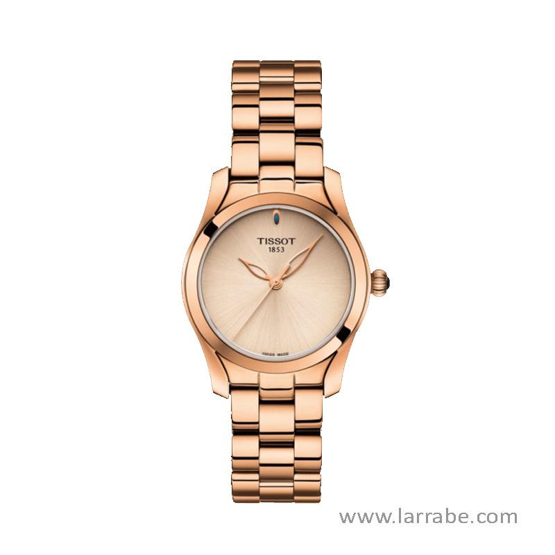 Reloj TISSOT T-WAVE de mujer color oro rosado, movimiento cuarzo