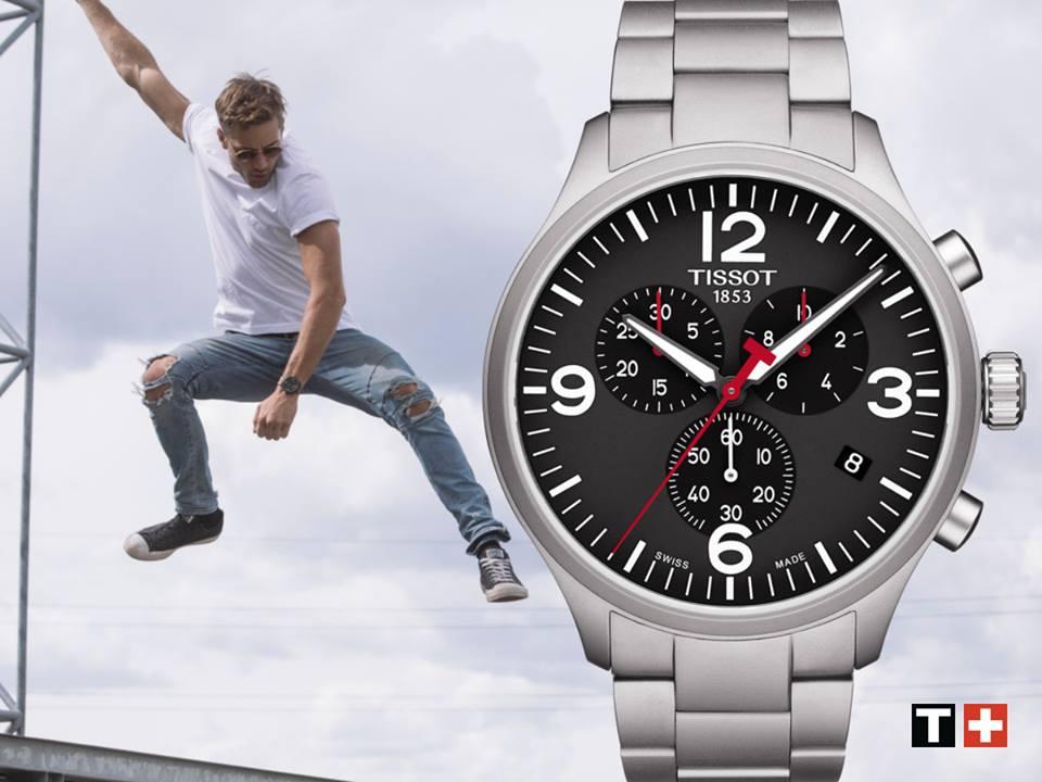 Reloj Tissot Chrono XL T-Sport negro 45mm T116.617.11.057.00