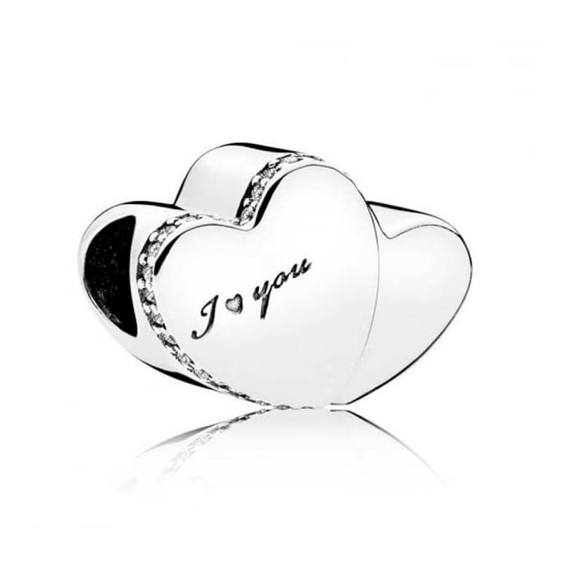 Charm Pandora plata 2 corazones