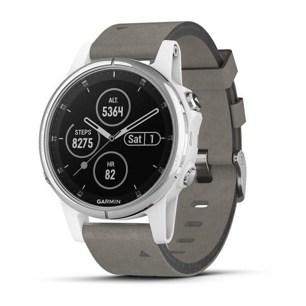 Reloj Garmin Fēnix 5 S Plus Zafiro Blanco Ante Gris 010-01987-05