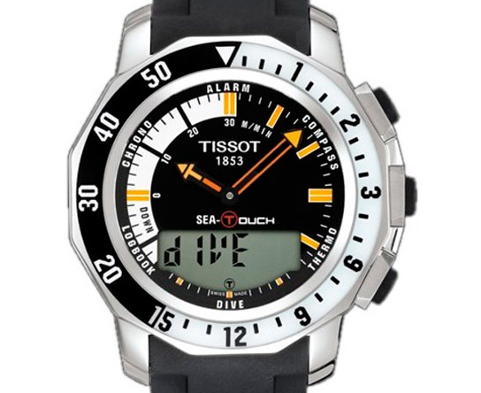 reloj outler tissot sea touch