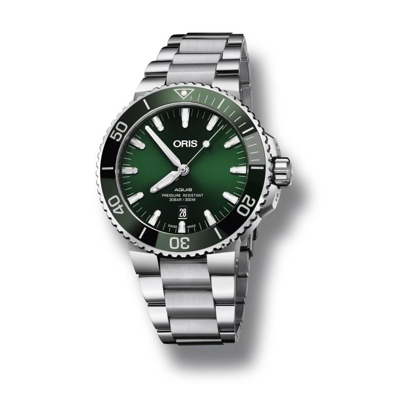 Reloj Oris Aquis Date para Caballero 43.50mm 01 733 7730 4157-07 8 24 05PEB