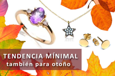 tendencia joyas oro mínimal para otoño