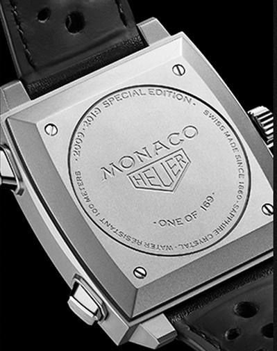 Detalles del grabado del edición limitada TAG HEUER Monaco 2010
