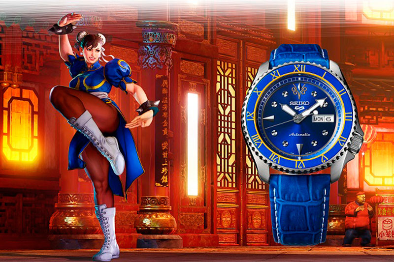 Reloj-Seiko-5-Sports-Street-Fighter-V-CHUN-LI-Edición-Limitada-42,5mm-SRPF17