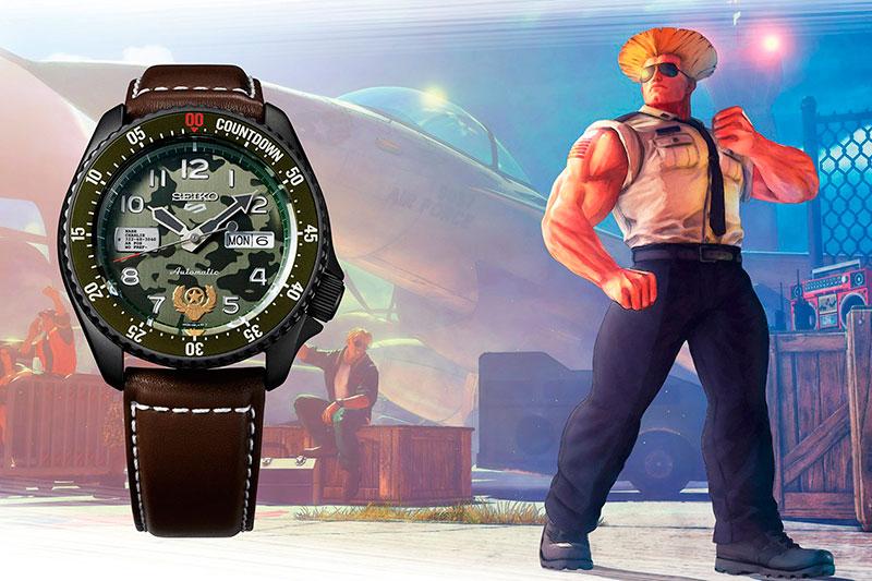 Reloj-Seiko-5-Sports-Street-Fighter-V-GUILE-Edición-Limitada-42,5mm-SRPF21