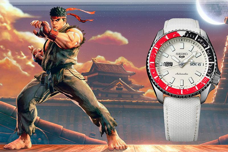 Reloj-Seiko-5-Sports-Street-Fighter-V-RYU-Edición-Limitada-42,5mm-SRPF19