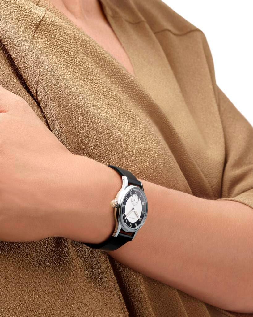 puesto correa del Reloj Longines Heritage Classic Tuxedo